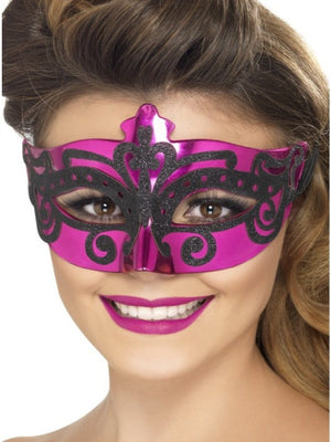 PINK LADIES VENETIAN EYE MASK
