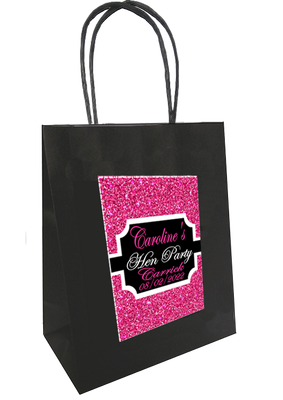Personalised 'Pink Sparkle' Hen Party Bag