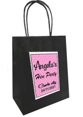 Polka Dot design personalised bag