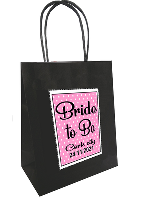 Polka Dot Design Bride To Be Personalised Bag