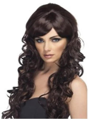 Pop Starlet Wig, Black, Long and Curly