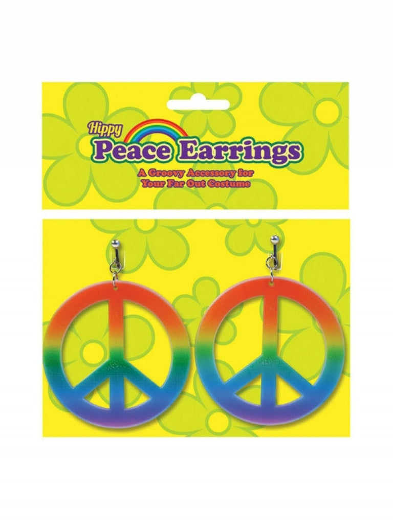 Rainbow Hippy Peace Earrings