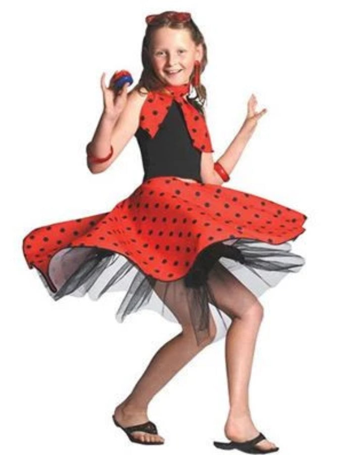 Red Rock And Roll Skirt Children's costume
