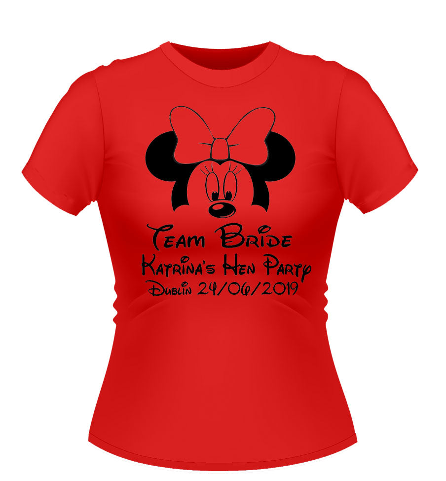 59b3bfe19 Disney 'Minnie Mouse' Theme Personalised T-shirts | Athlone Jokeshop ...