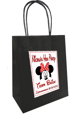 Minnie Mouse Theme Personalised Hen Party Bag