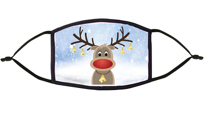 Reindeer Design Re-Usable Face Mask