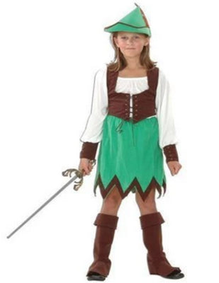 Robin Hood Girl Deluxe Children's costume