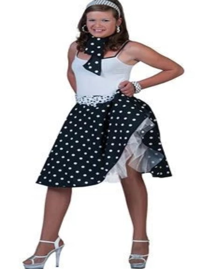 Rock And Roll Skirt Black Costume