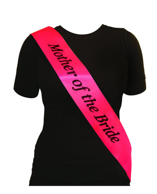 Hen Night Sash Mother Of The Bride Hot Pink