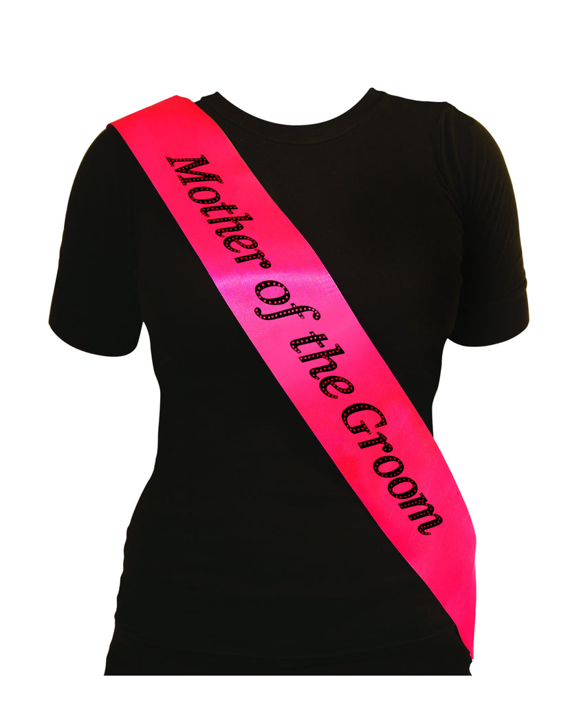 Hen Night Sash Mother Of the Groom Hot Pink