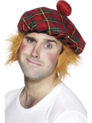 scots hat with hair