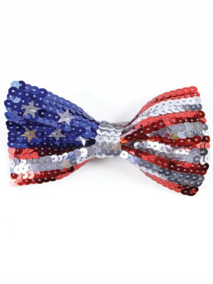 Sequin Bow Tie USA