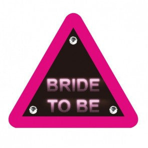 Small Bride To Be FLASHING Badge