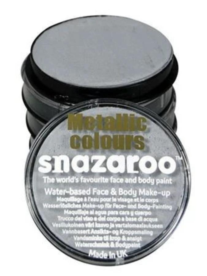 Snazaroo Silver Metallic Facepaint 18ml