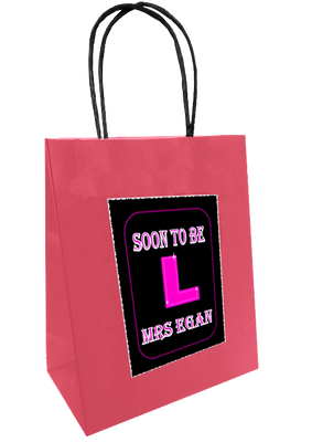 Hen Night Personalised Bride To Be Gift Bag