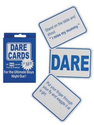 Stag Night Dare Cards For Boys