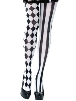 Tights Harlequin Black & White