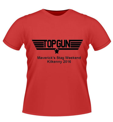 'Top gun' personalised stag night tshirt