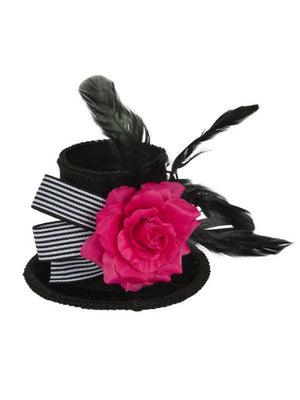 Top Hat Mini With Beads and Feather