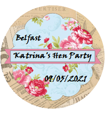 Hen Party Personalised Vintage Badge