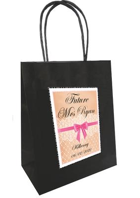 'Future Mrs' Vintage lace design Personalised Bag