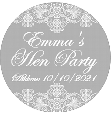 Vintage Lace Personalised Badge in Grey or Peach