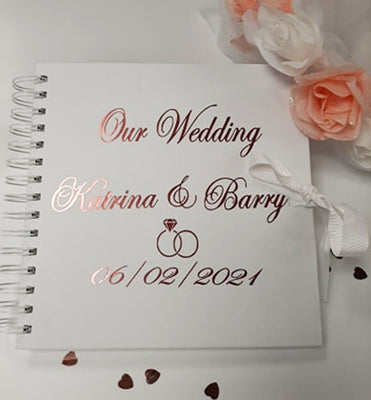 Wedding Day Personalised Guest Memo Book