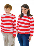 Childrens Striped Top Red And White