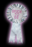 Hen Night White Bride to Be Rosette