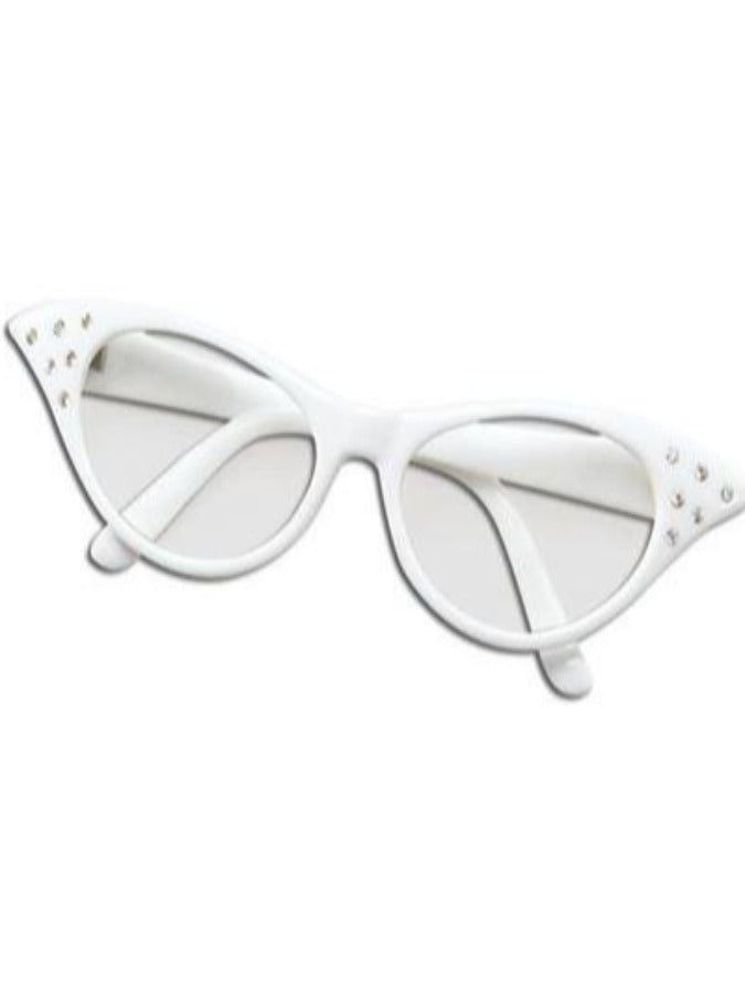 White Fifties Glasses