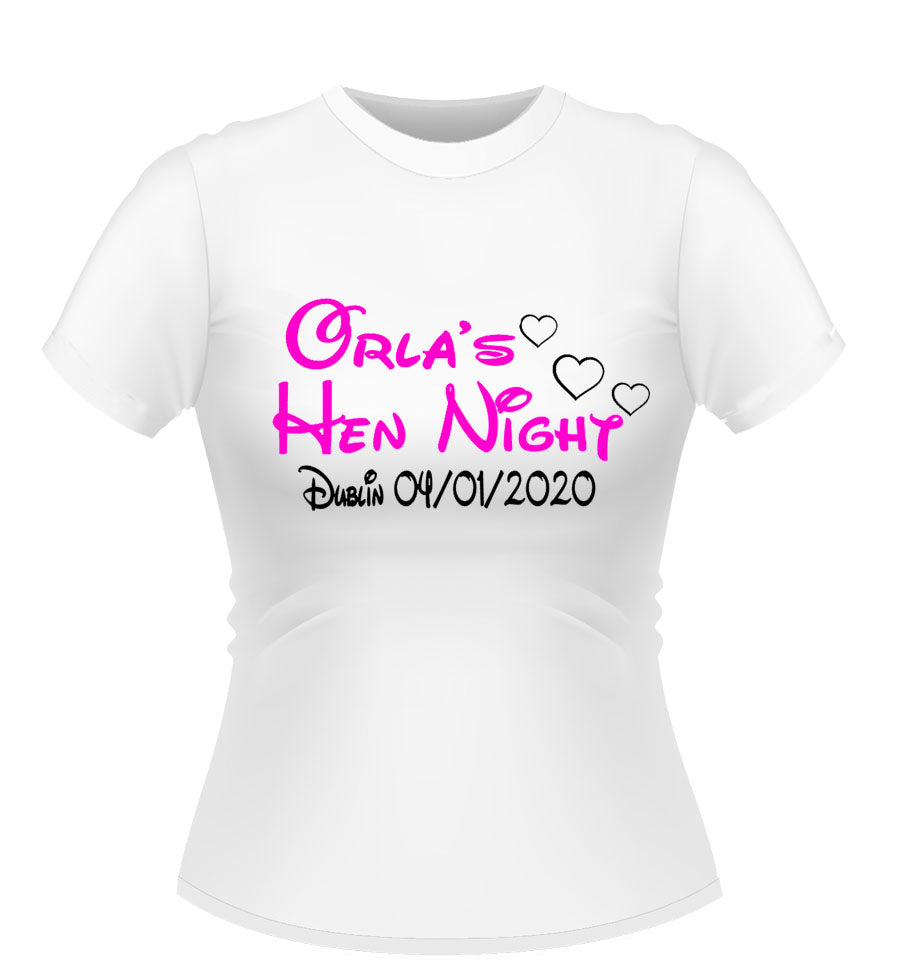 'Disney' Theme Personalised Hen Party T-Shirt