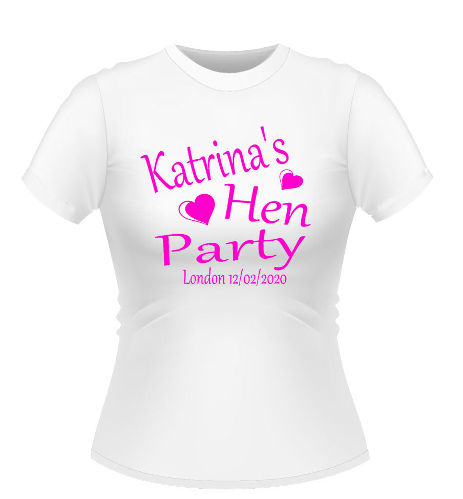 'Hen Party' Personalised T-shirt