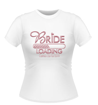 'Bride Loading' Personalised Hen party Tshirt
