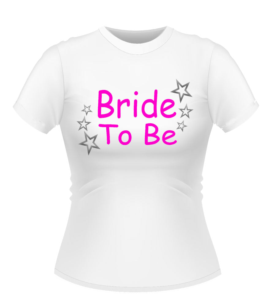 Bride to Be T-shirt with stars