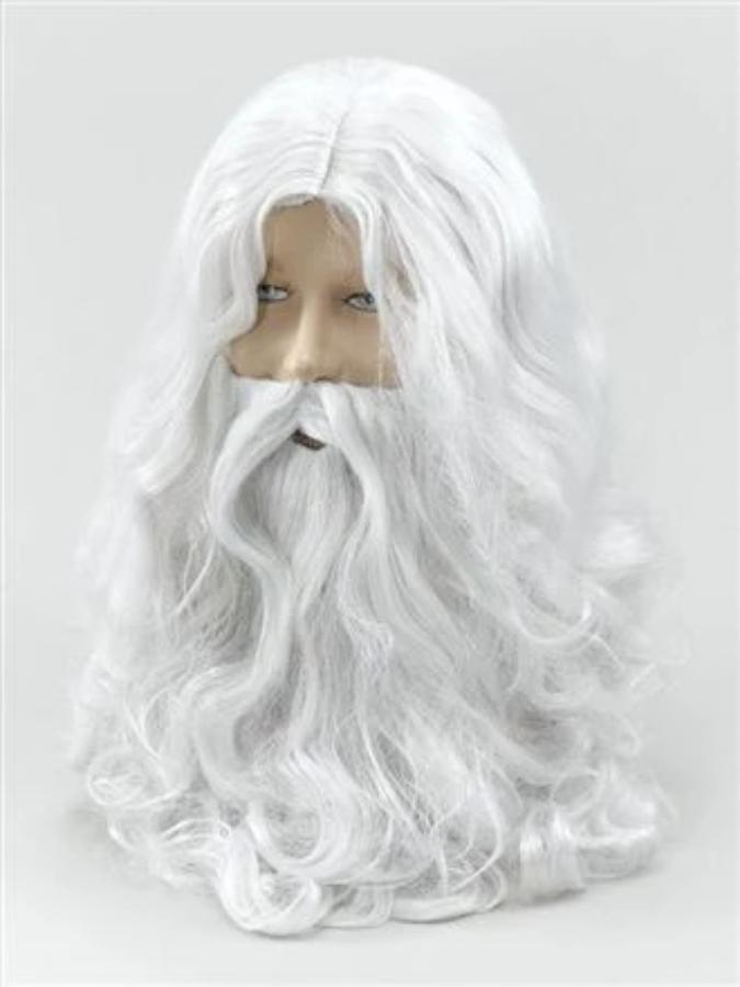 Wizard White Wig And Beard