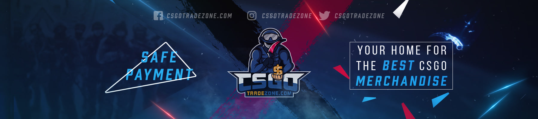 Csgotradezone Banner for Csgo rankings