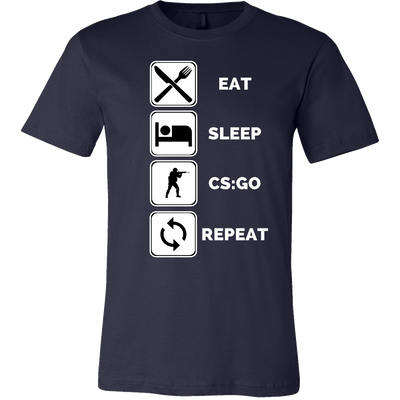 EAT,SLEEP,CSGO,REPEAT T SHIRT 3