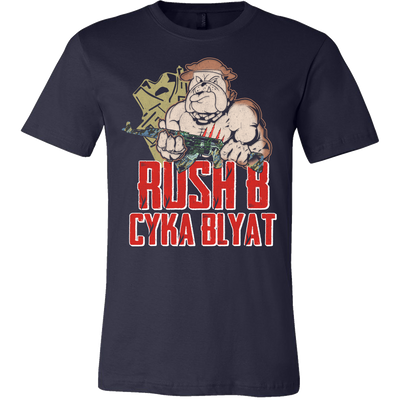 teelaunch T-shirt RUSH B CYKA BLYAT T-SHIRT