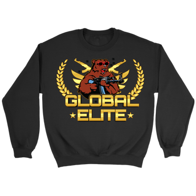 teelaunch T-shirt GLOBAL ELITE CREWNECK