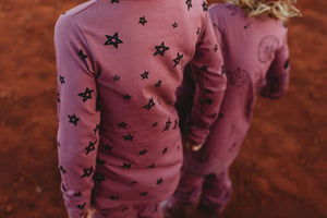 G.Nancy Currant Star Long PJ Set (last size 7-9y)