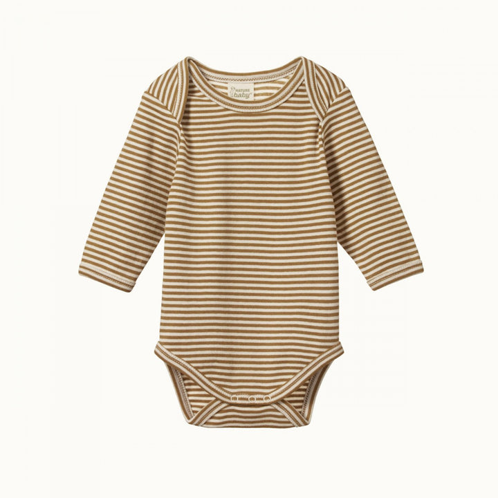 Nature Baby Chestnut Stripe Bodysuit