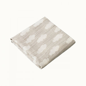 Cloud Print Organic Baby Muslin (one left)