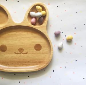Dove + Dovelet Bunny Eco Wood Plate