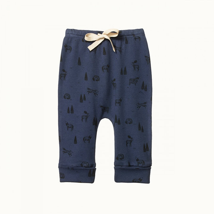 Organic Baby Drawstring Pants - Wilderness Night Print