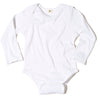 Long Sleeved Ribbed Onesie White