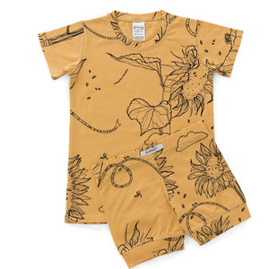 G.Nancy Ochre Sunflower Shortie PJ Set