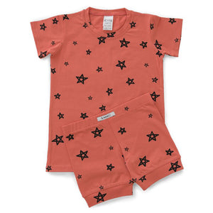 G.Nancy Papaya Star Shortie PJ Set