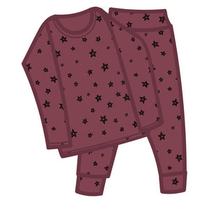 G.Nancy Currant Star Long PJ Set