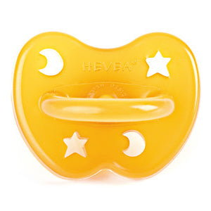 Natural Rubber Orthodontic Pacifier - Star + Moon
