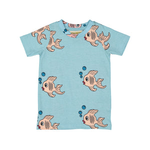 Hugo Loves Tiki Blue Fish T Shirt